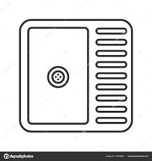 dessin evier cuisine icône éaire évier cuisine illustration ligne mince lavabo symbole
