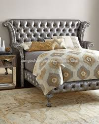 Nail Button Wingback Bed by Upholstered Wingback Bed Queen Home Beds Decoration