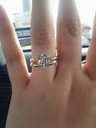 solitaire engagement ring with wedding band show me your wedding bands paired with a solitaire