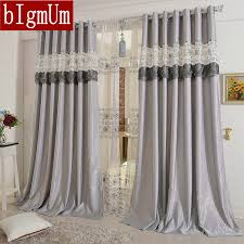 Purple Grey Curtains Embroidered Curtains For Living Room Bedroom Hotel Luxury Window