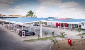 tesla charging 10 awesome design features of tesla u0027s newest supercharger station