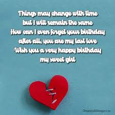 birthday wishes for ex girlfriend occasions messages