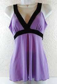 lavender blouses tempted sleeveless lavender black stretchy top blouse size small