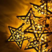 battery operated star lights battery operated led golden metal star string lights 10 warm white