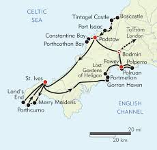 Port Isaac England Map by Hiking In Cornwall Itinerary U0026 Map Wilderness Travel