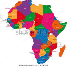 africa map with country names and capitals africa map stock images royalty free images vectors