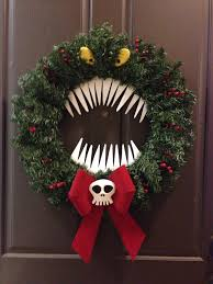 the nightmare before christmas home decor man eating wreath inspired from the nightmare before christmas