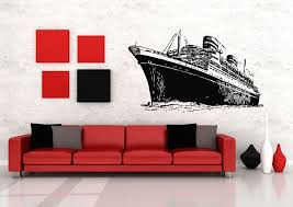 wall decals stickers home decor home furniture diy wall art vinyl sticker room decal mural decor steamship boat sail ocean bo1949