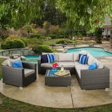 Outdoor Sofa Sectional Set Carmel 7 Piece Outdoor Sofa Sectional With Sunbrella Cushions By
