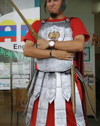 trojan halloween costume roman esque soldier uniform from cardboard 11 steps with