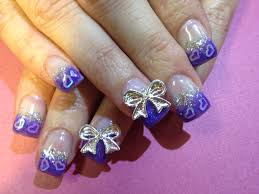 13 nail designs purple and silver silver and purple nail designs