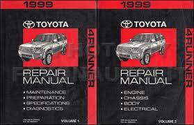 toyota 4runner repair 1999 toyota 4runner repair shop manual 2 volume set original