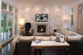 furniture brick wall with brick fireplace design and crown