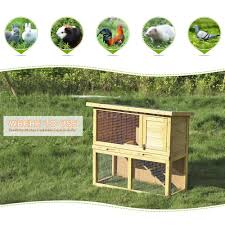 Large Rabbit Hutch Ikayaa Outdoor Wooden Chicken Coop Hen House Rabbit Hutch Pet