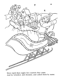 simply christmas the night before christmas coloring pages
