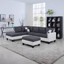 Leather Living Room Furniture White And Dark Grey Leather Living Room Furniture With Classic 2