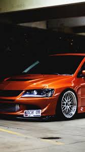 mitsubishi evo 9 wallpaper hd cars orange tuning mitsubishi lancer evolution ix evo wallpaper