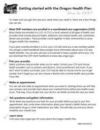 oregon health authority new to ohp oregon health plan state