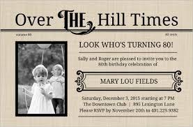 80th birthday invitations 26 80th birthday invitation templates free sle exle