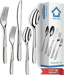 how to set a table with silverware amazon com silverware set 18 10 stainless steel forks spoons