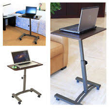 Rolling Stand Up Desk Mobile Computer Cart Rolling Home Medical Work Station Laptop Desk