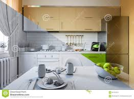 3d render of kitchen design in a modern style a mix of pictures