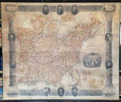 United States Wall Map by Antique Wall Maps