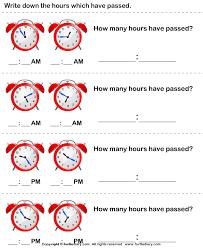 elapsed time worksheet worksheets