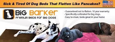 Barker Dog Bed Big Barker Home Facebook