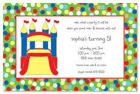birthday invitations bounce house playground
