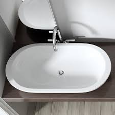 wide basin bathroom sink bathroom ceramic counter top mounted gloss white basin sink durovin