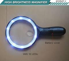 hand held magnifying glass with light sale illuminated magnifying glass 2x120mm 5x28mm hand held