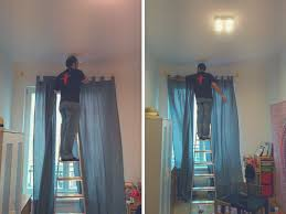 How To Hang Curtain Swags by The Best Way To Hang Curtains Without Drilling Packmahome