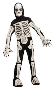 child skeleton onesie costume boys kids halloween fancy dress
