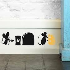 Kids Room Decals by Aliexpress Com Buy Funny Mouse Driving The Car Mouse Hole Wall