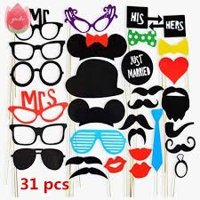 photo booth supplies 31pcs photo booth colorful lip wedding decoration shoot props