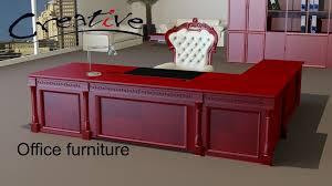 Classic Office Desks Classic Executive Veneer Desk With Office Furniture Free 3d Model