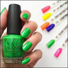 opi green come true u2013 opi neons 2016 opi swatches pinterest