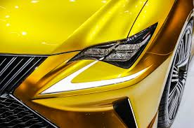 lexus yellow headlights lexus lf c2 concept hits l a likely previews rc convertible