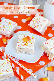 the sweet candy corn creme rice krispie treats