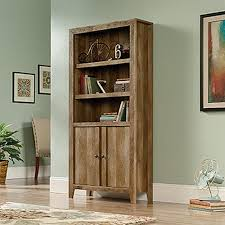 Sauder Bookcase With Glass Doors by Furniture Home Sauder Dakota Pass Collection Shelf Bookcase With