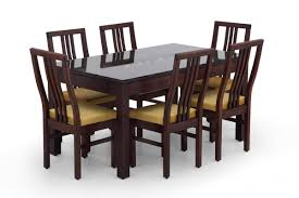 Rectangle Glass Dining Table Set Buy Rectangular Glass Dining Table Set Online Wooden Glass Dining