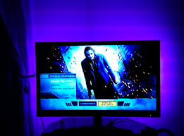 ambient light behind tv led home theater accent kit colour changing rgb kit youtube