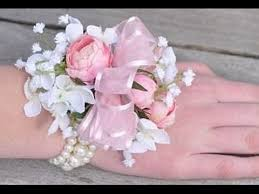 pink corsage light pink corsage