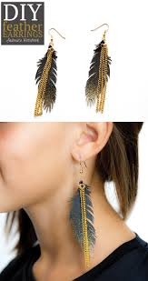 how to make feather earrings gold sparkle feather earrings andrea s notebook