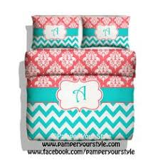 Chevron Bedding For Girls by Polka Dot Chevron U0026 Clover Bedding Turquoise By Pamperyourstyle