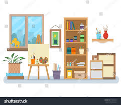 Creative Interior Design Art Studio Interior Creative Workshop Room Stock Vector 579023947