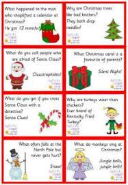 christmas day dinner table games christmas jokes free printable christmas joke cards for kids