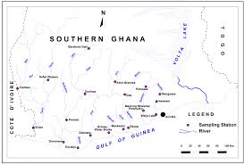 Map Of Ghana A Number Description Of Ghanaian Water Quality U2014a Case Study Of The