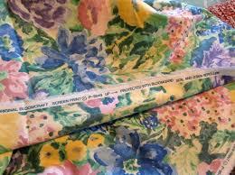 Vintage Drapery Fabric Vintage Drapery Fabric Bloomcraft Fabric 80 U0027s Fabric House
